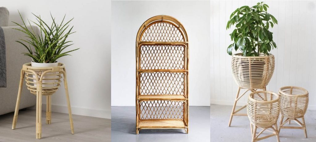 buy rattan plant stands Singapore